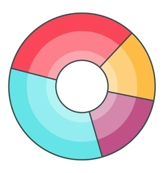 Pie chart icon cartoon style vector image