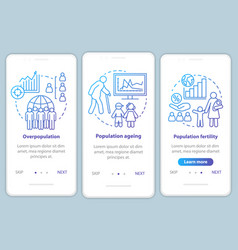 Population onboarding mobile app page screen vector