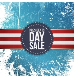 Presidents Day Sale blue Emblem with Ribbon vector