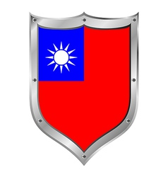Republic of China flag button vector image