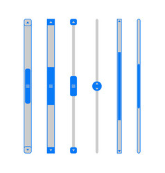 scroll bar set vector image