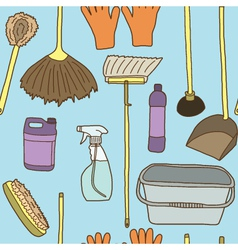 Seamless of Cleaning items vector image