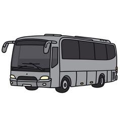 Silver bus vector