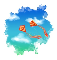 Sky Kite Watercolor vector image