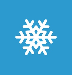 Snowflake icon white on the blue background vector