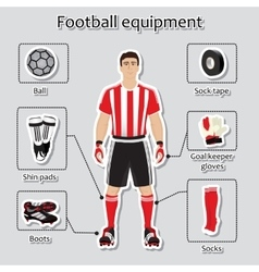 Soccer player uniform sport equipment for vector image