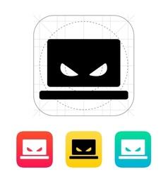 Spy laptop icon vector image