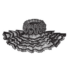 the cape for decorative reasons vintage engraving vector image