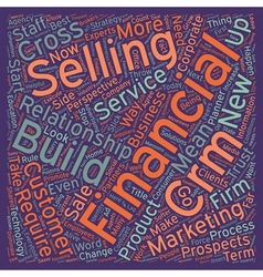 The first rule of crm for financial services text vector