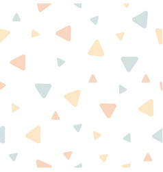 triangle seamless pastel color vector image