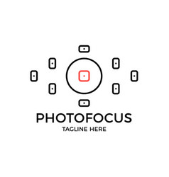 Viewfinder icon photo focus camera logo simple vector