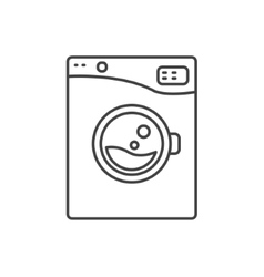 Washing machine line icon sign vector image