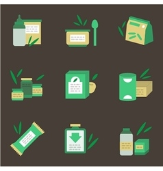Baby nutrition flat color icons vector image vector image