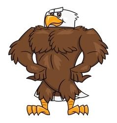 Strong eagle posing 2 vector image