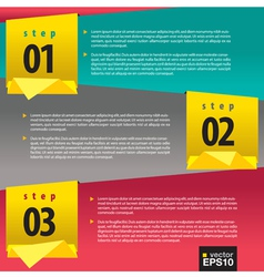 Abstract banners with number vector image