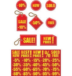 Advertising signs labels and stickers vector image