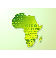 Africa country map presentation vector