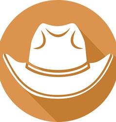 Cowboy Hat Icon vector image vector image
