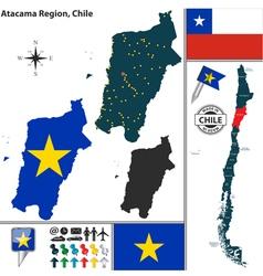 Map of Atacama vector image