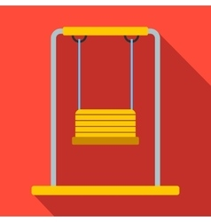 Playground swing flat icon vector image