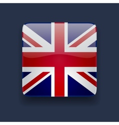 Square icon with flag of the UK vector image