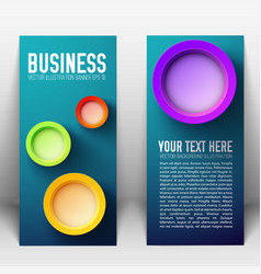 Web abstract vertical banners vector