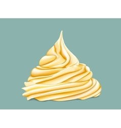 yellow tiered twisted cream vector image vector image