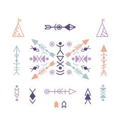 aztec ethnic ornament elements vector image vector image