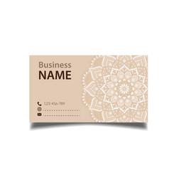 business card flower vintage decorative element ve vector image
