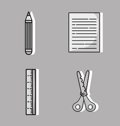 set art and craft creative objects vector image vector image
