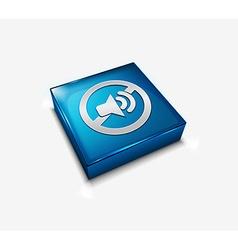 speaker web icon vector image