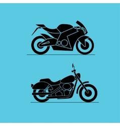 sport motorbike icon design vector image vector image