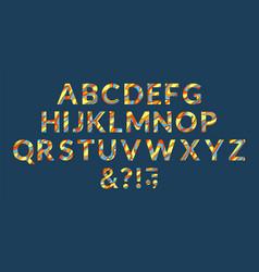 Abc letters design 3d characters alphabet font vector