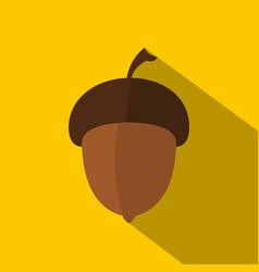 Acorn icon flat style vector
