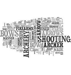 Archery text word cloud concept vector