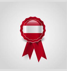 austria flag badge design vector image