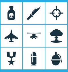 Battle icons set collection of target slug vector