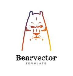 Bear sport logo concept isolated on white vector