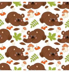 Bears Seamless Pattern vector