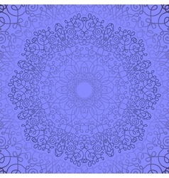Blue Circle Lace Ornament vector image
