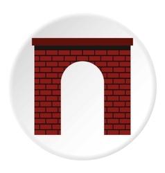 Brick arch icon flat style vector