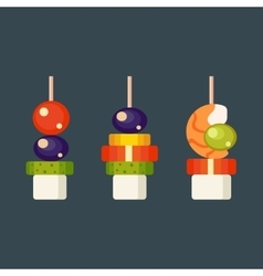 Canape snacks vector image