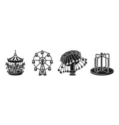 Carousel icons set simple style vector