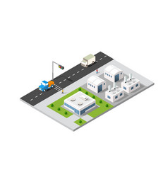 city boulevard isometric vector image