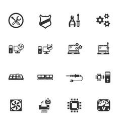 Computer repair icon set vector