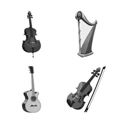 Design of music and tune icon collection vector