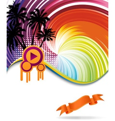 discotheque banner vector image