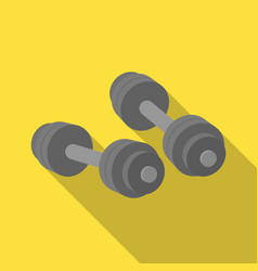 dumbbells icon in flate style isolated on white vector image