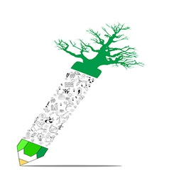 environment education concept pencil vector image