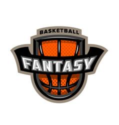 Fantasy basketball sports logo emblem vector